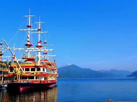 하코네 아 시노 코의 해적선