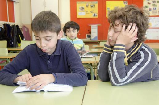 Children studying in the classroom 3