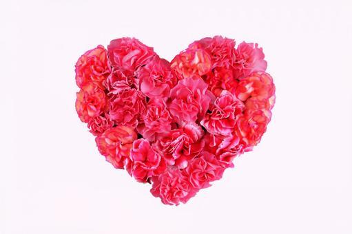 Carnation Heart (Cherry Red)