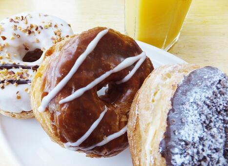 Donut and orange juice 1