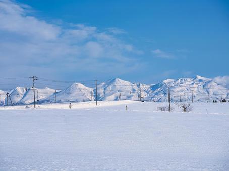 Tokachidake in winter