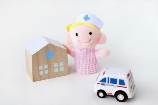 Ambulance heading for hospital