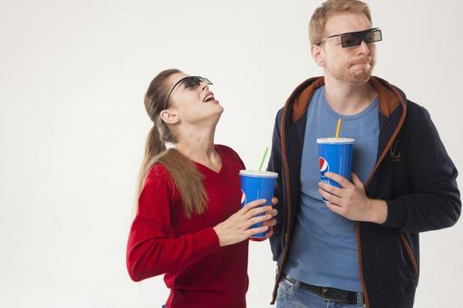 Couple seeing 3D movies 34