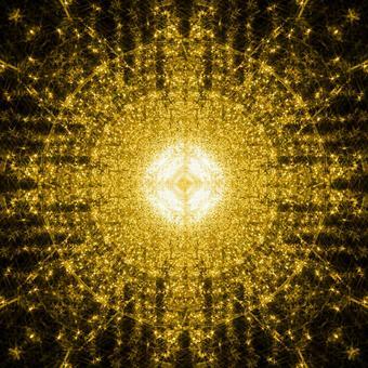 Round design pattern_Arabesque pattern_Mandala pattern_Circular motif_Light_Golden_Gold_Glitter