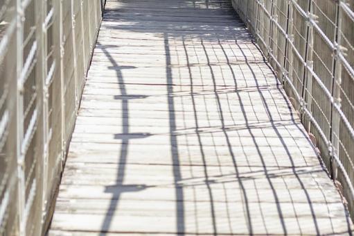 Suspension bridge floor