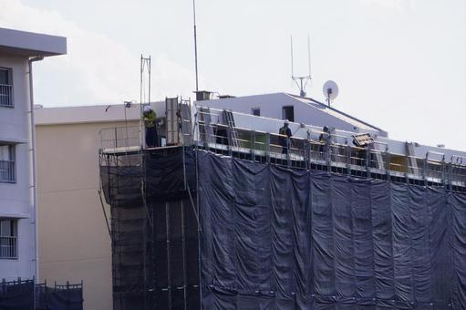 Exterior repair of rental apartment