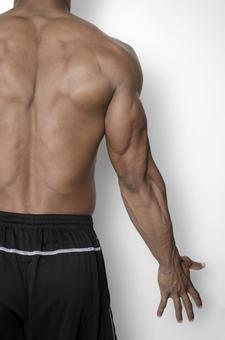 Rear appearance of muscular male 7
