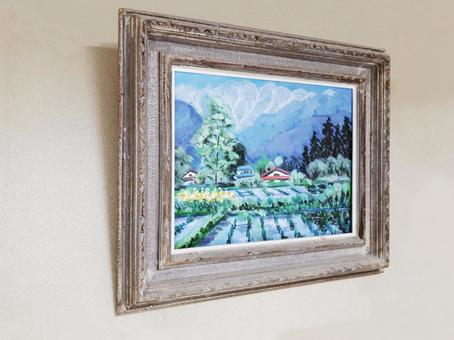 Oil paintings of snowy mountains and rural areas_from left