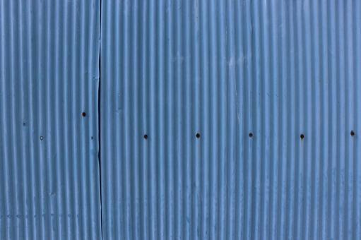 Blue galvanized iron