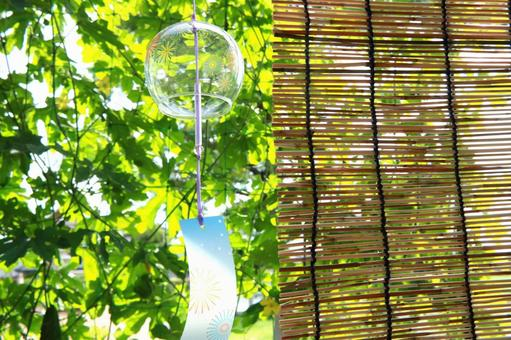 풍경 풍경 발 일본의 여름 녹색 커튼