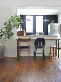 厨房和柜台