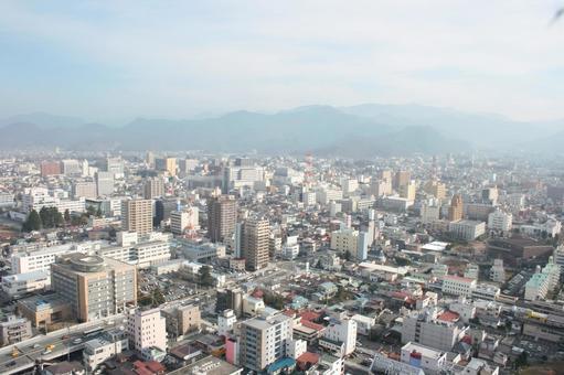 The streets of Yamagata city