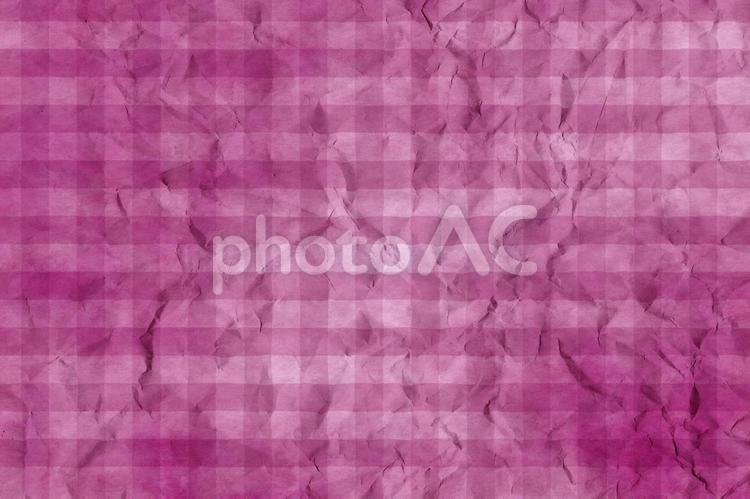 しわのある和紙 彩雲 ギンガムチェック柄 ちぢれ 凸凹 テクスチャ 52の写真