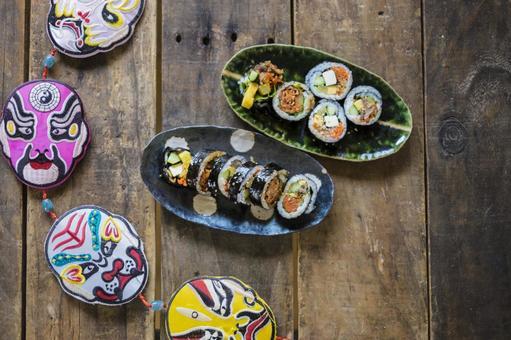 紫菜包飯和韓國傳統裝飾