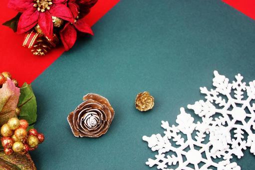 松果和圣诞冬青