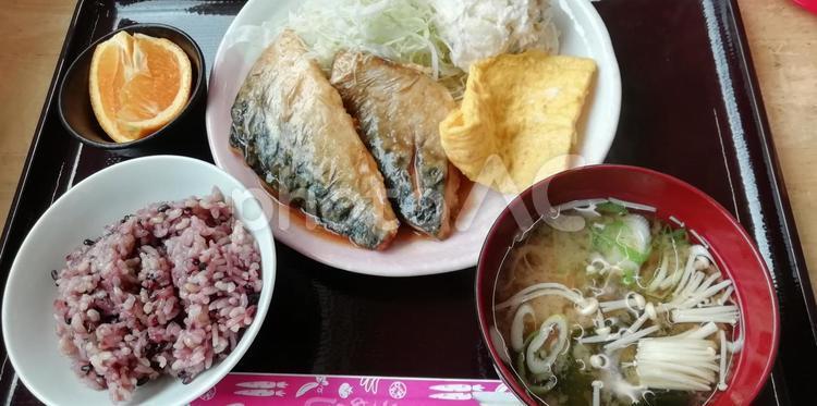 本日のランチ☆さばの味噌煮の写真