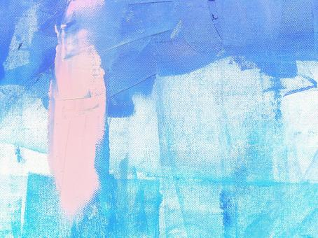Oil painting abstract texture [Background material Summer Blue Blue Pink Refreshing and energetic paint drawing art]