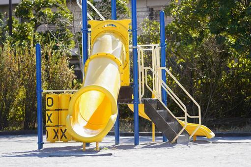 Complex playground equipment in the park