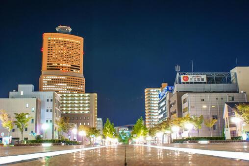 Night view of Hamamatsu City, Shizuoka Prefecture