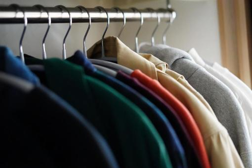 Closet with spring clothes