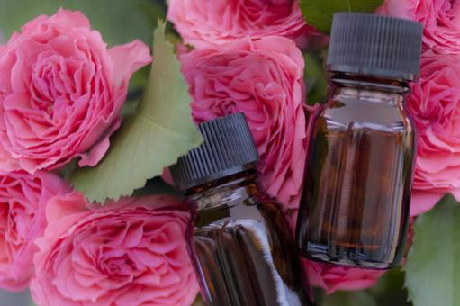 Roses and aroma oil