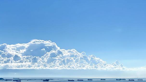Midsummer sky and cumulonimbus