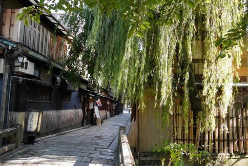 Kyoto Machiya and cobblestone
