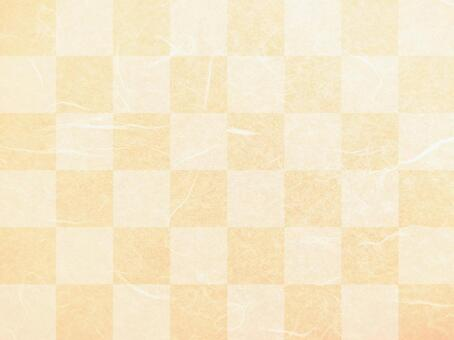 Japanese paper texture background material with checkered pattern