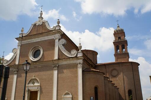 Portico San Petronio Cathedral 2 in Bologna, Italy 2
