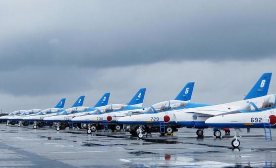 Blue Impulse lined up