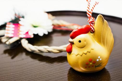Ornament of the rooster and fancy
