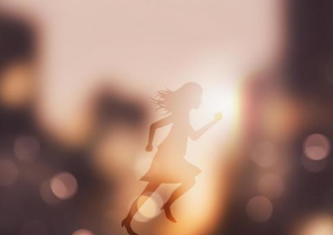 Image of running woman
