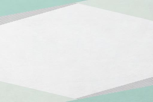 三角形圖案的日本紙紋_翠綠色框的背景材料