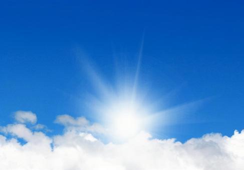 A sun shining in the blue sky 1