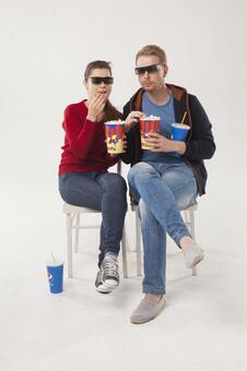 Couple seeing 3D movies 17