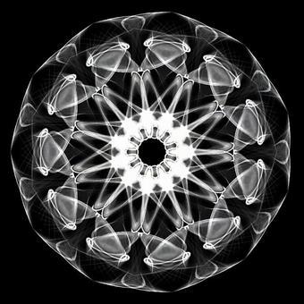Circle shape art 085 monochrome