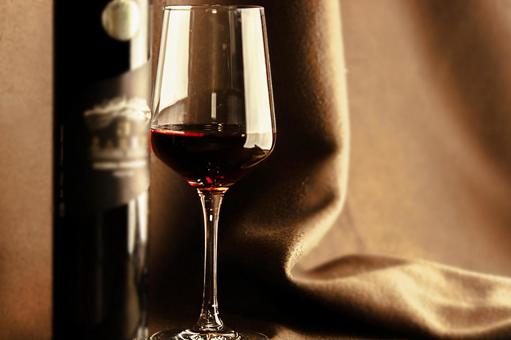 Wine bottle and wine glass 10