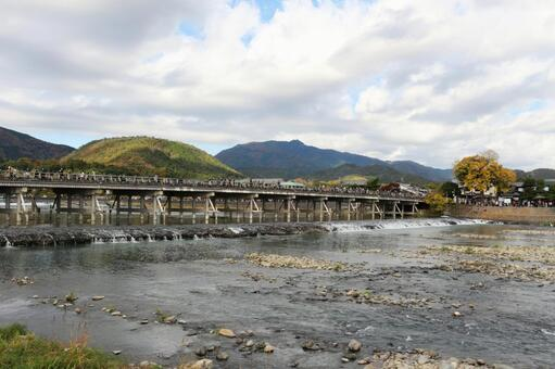 Togetsukyo Bridge in Autumn