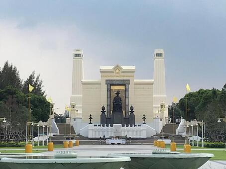 태국 방콕의 기념비 라마 1 세 왕 동상 라마 1 세 국왕