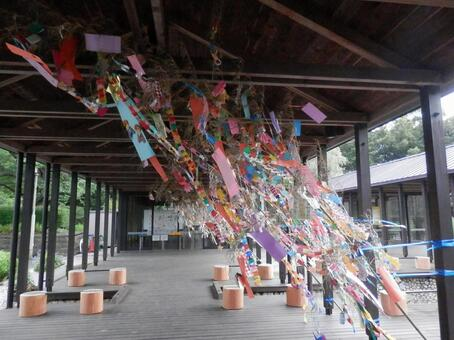 Tanabata decorating in the wind