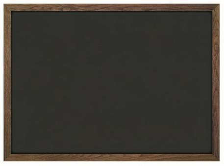 Blackboard with a thin frame of deep brown trees