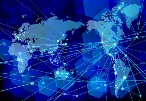 全球化和網絡技術的藍色背景