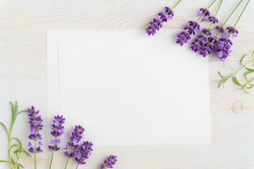 Lavender and card frame