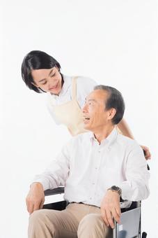 Men and nurses on a wheelchair 14