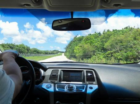 Drive scenery of Tropical country