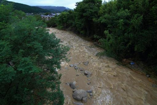 Muddy stream after heavy rain