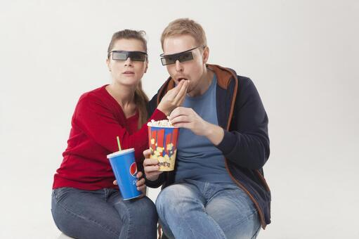 Couple seeing 3D movies 14