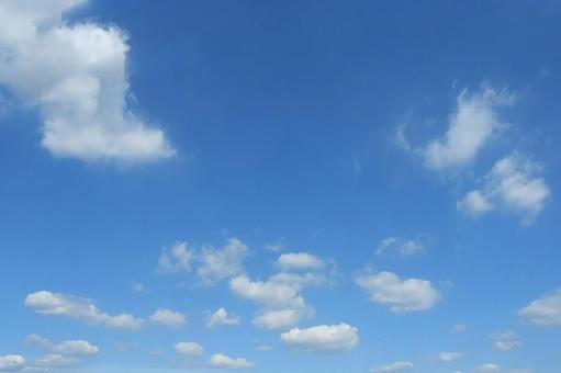 White clouds in the sky blue sky 01
