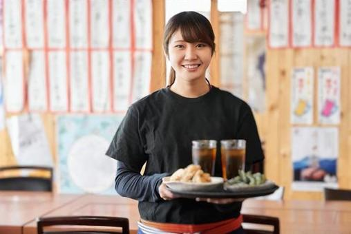 Job image of a woman working in a tavern