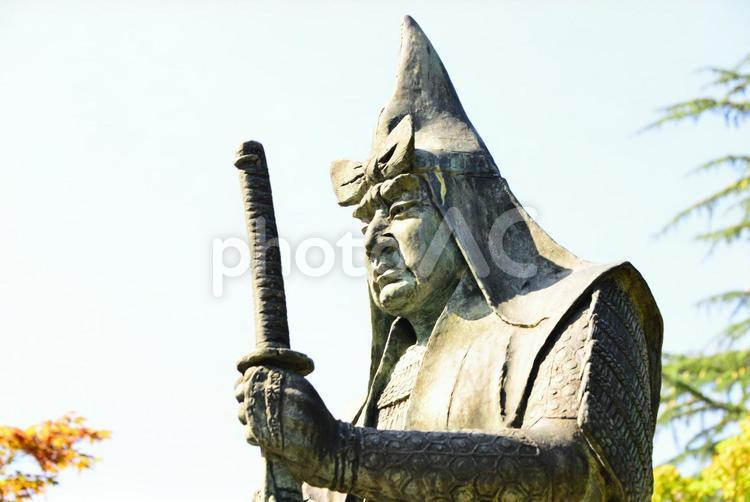 山形県米沢市・上杉謙信銅像 6の写真